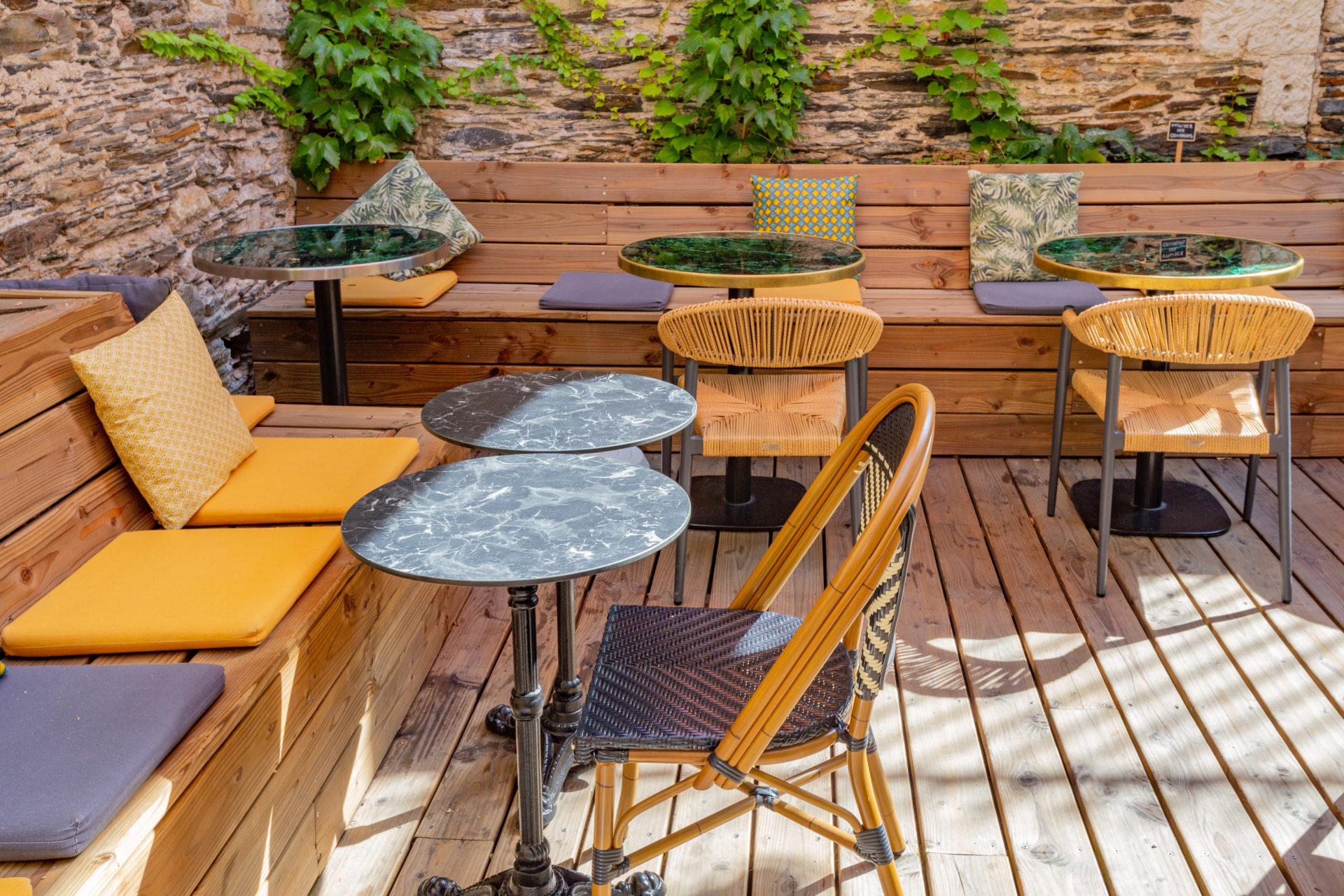 restaurant assises bois